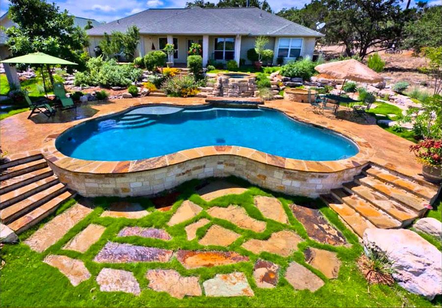 Modello di piscina moderna fuori terra n.02