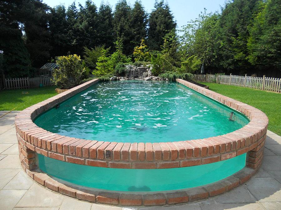 Modello di piscina moderna fuori terra n.03