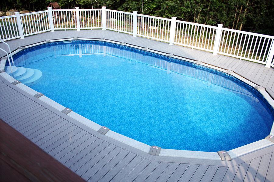 Modello di piscina moderna fuori terra n.05