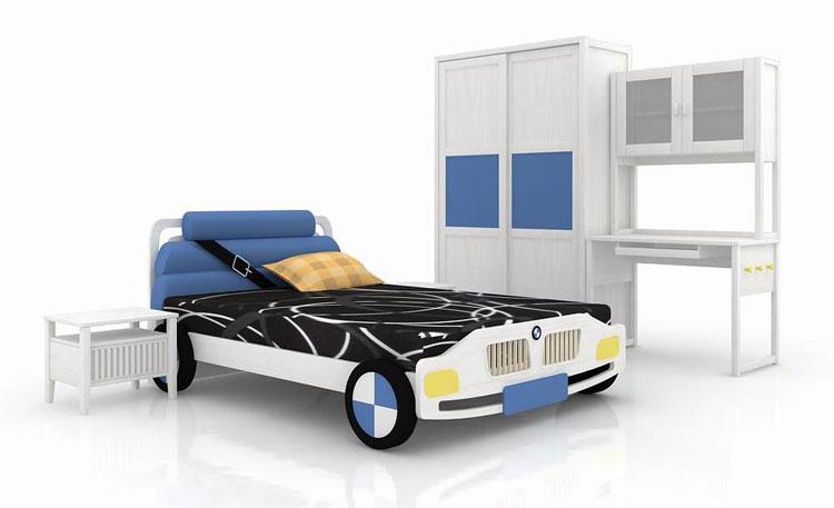 Letto a forma di macchina per bambini n.30