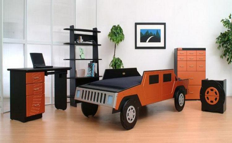 Letto a forma di macchina per bambini n.35