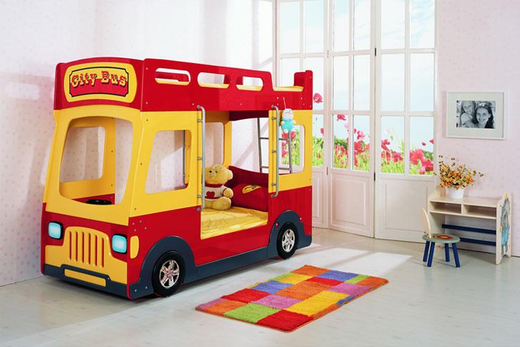 Letto a forma di bus per bambini
