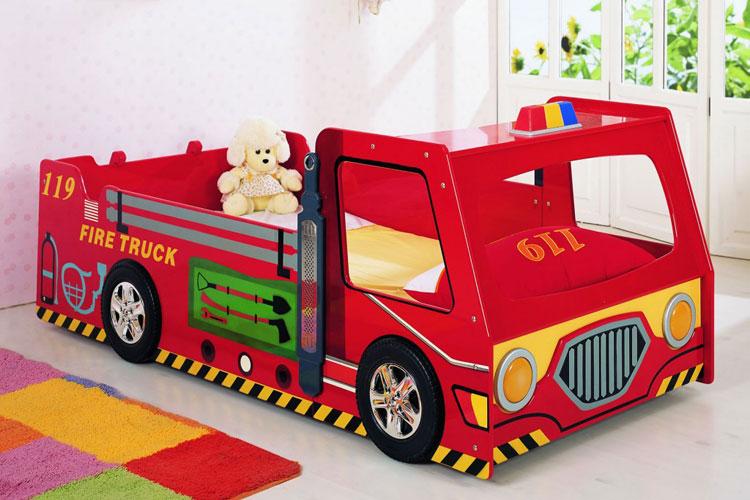 Letto per bambini a forma di camion dei pompieri n.46
