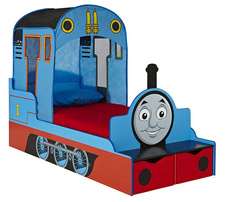 Letto per bambini a forma di trenino Thomas
