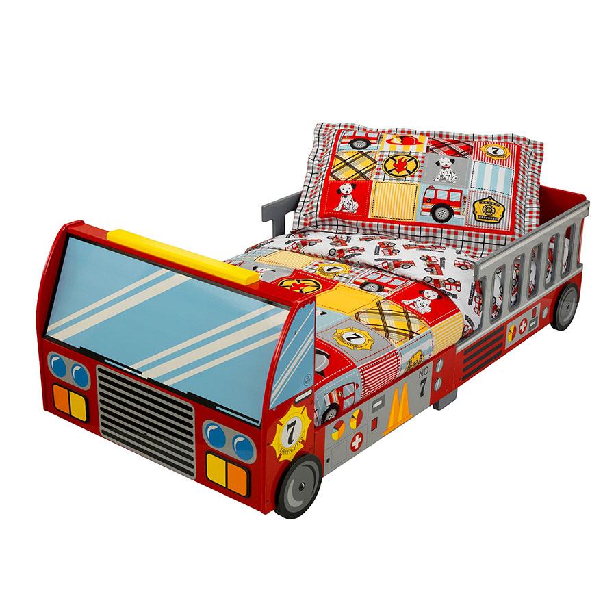 Letto a forma di camion dei pompieri