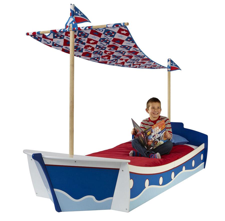 Letto a forma di barca