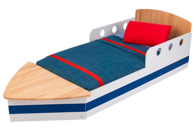 Letto a forma di barca per bambini