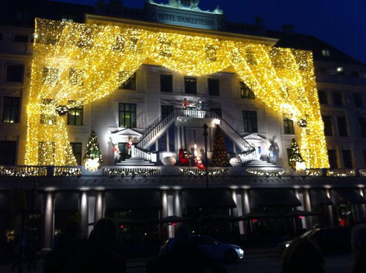 Foto delle luci natalizie di Copenaghen