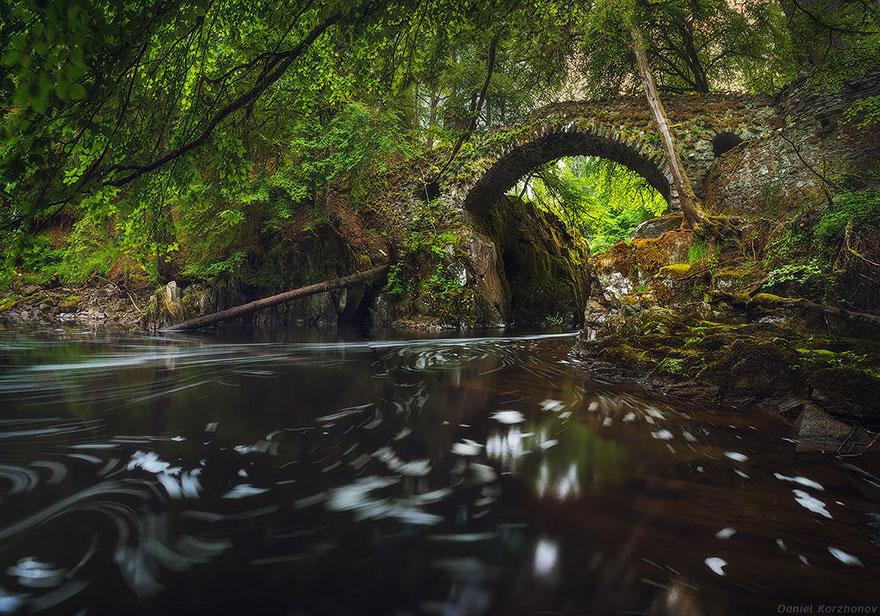 Foto del ponte Hermitage in Scozia