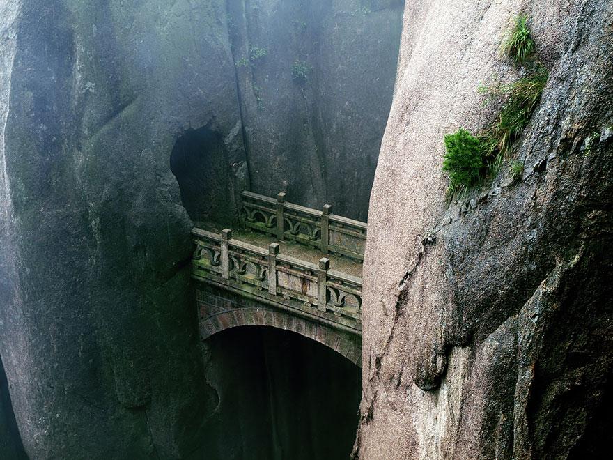Foto del ponte di Huangshan in Cina