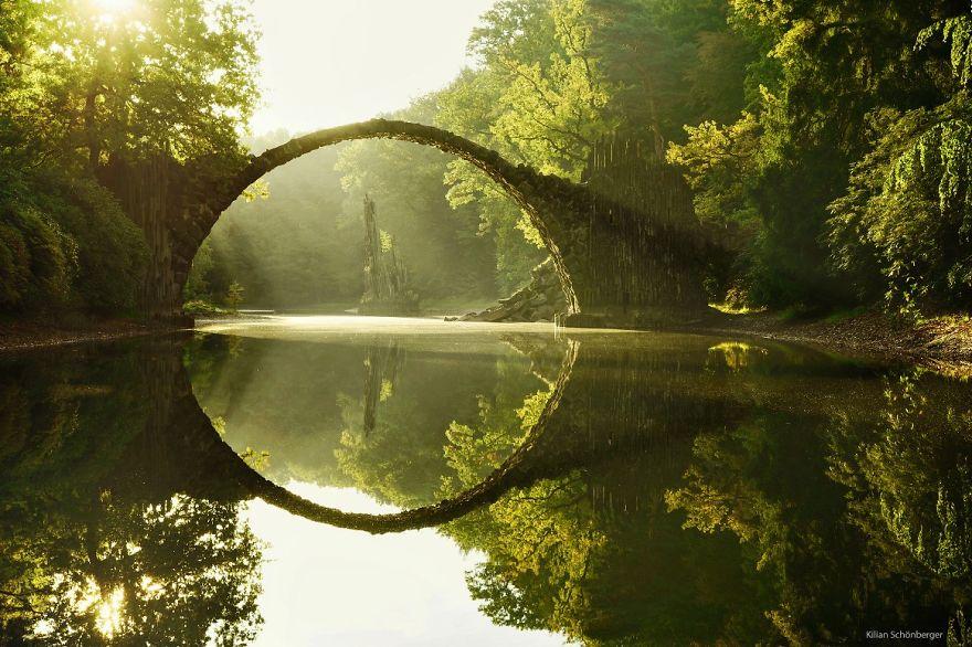 Foto del ponte di Rakotz Brucke in Germania