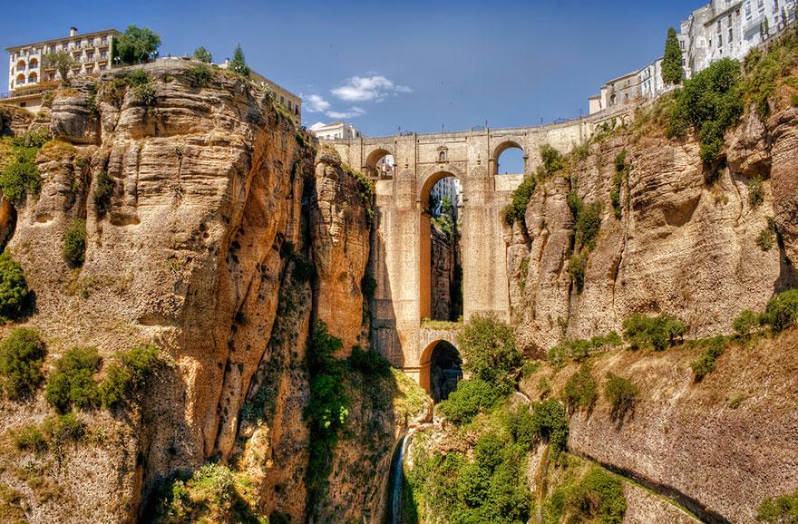 Foto del ponte di Ronda in Spagna