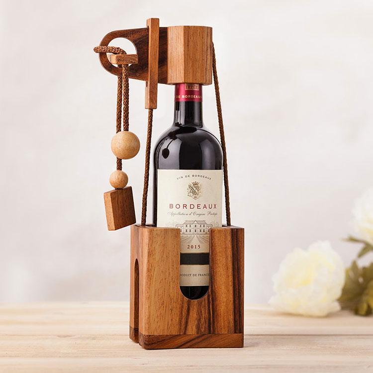 30 portabottiglie di vino da tavolo dal design moderno - Portabottiglie di vino in legno ...