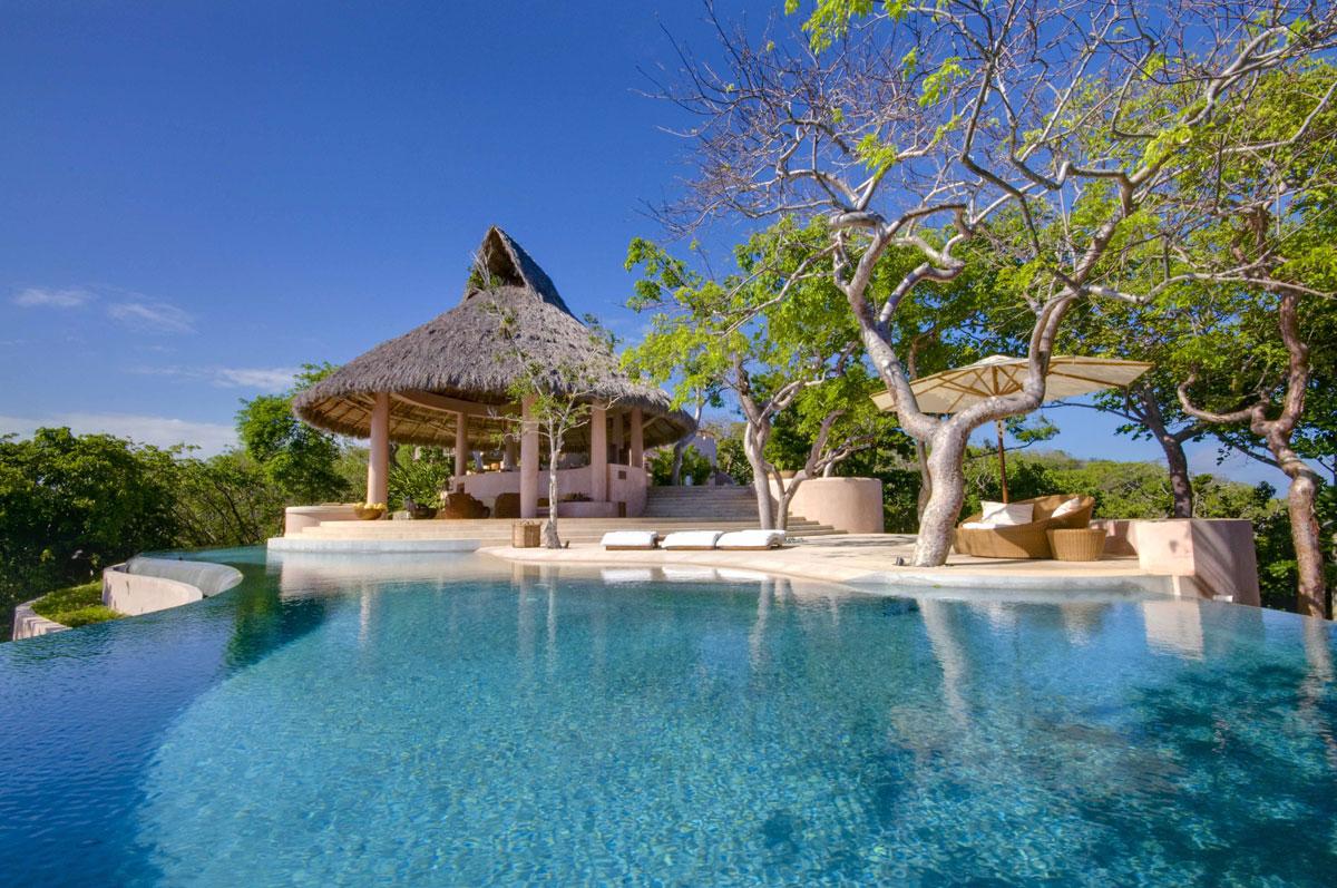 Foto del resort sul mare Mustique Island nelle Piccole Antille