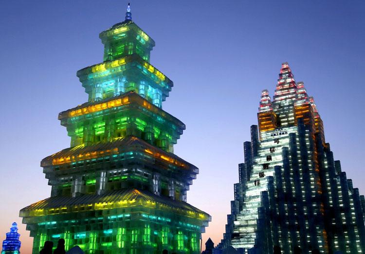 Foto delle sculture dell'Harbin Ice Festival n.02