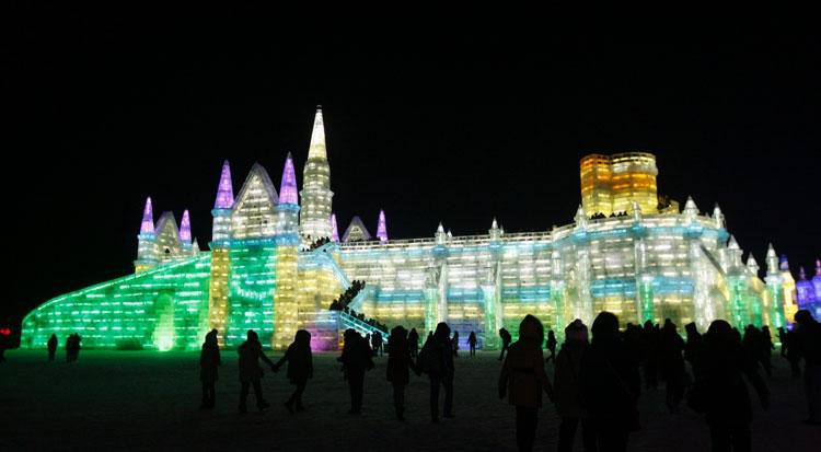 Foto delle sculture dell'Harbin Ice Festival n.03