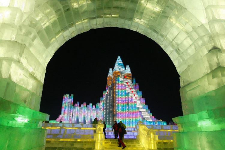 Foto delle sculture dell'Harbin Ice Festival n.04
