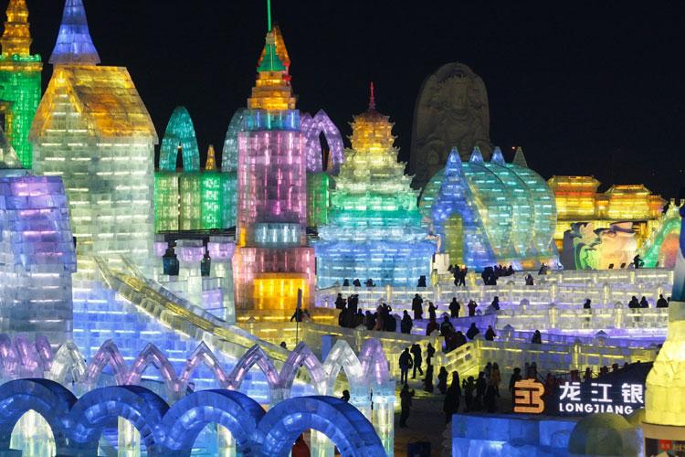 Foto delle sculture dell'Harbin Ice Festival n.05