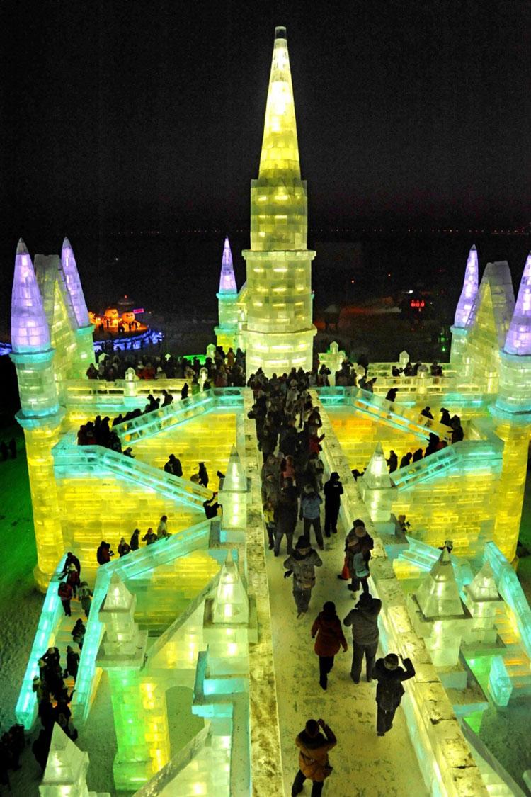 Foto delle sculture dell'Harbin Ice Festival n.06