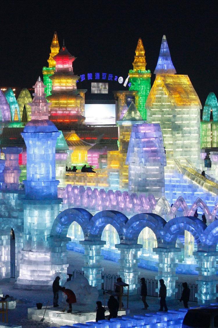 Foto delle sculture dell'Harbin Ice Festival n.08