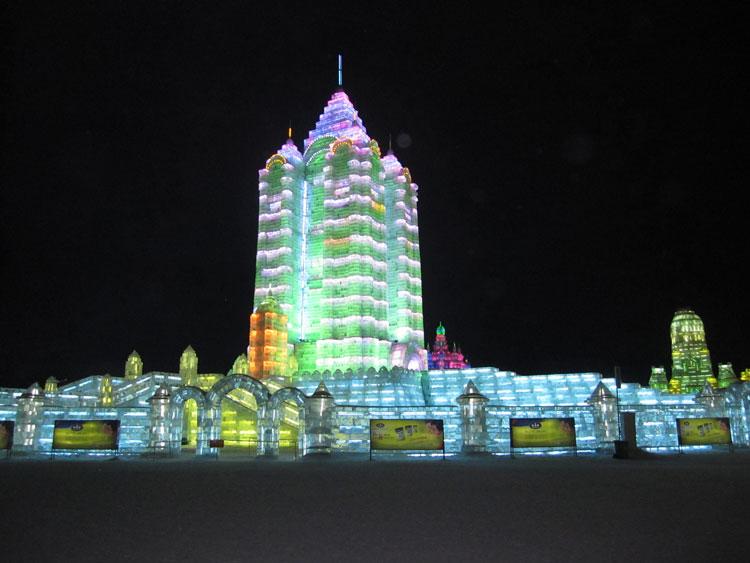 Foto delle sculture dell'Harbin Ice Festival n.13