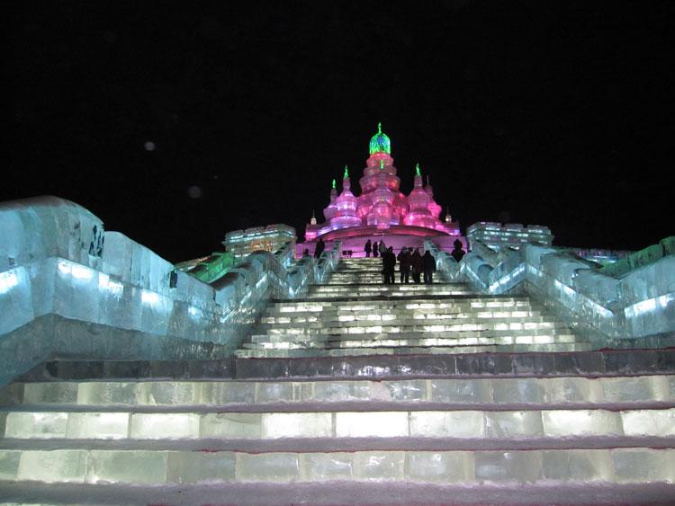 Foto delle sculture dell'Harbin Ice Festival n.15