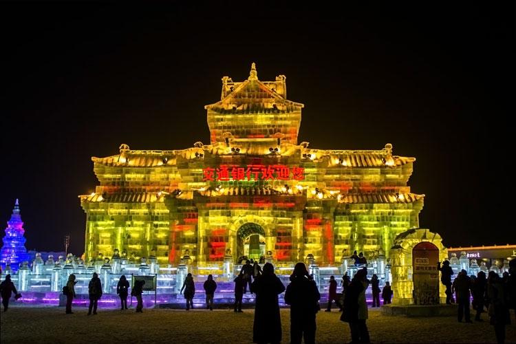Foto delle sculture dell'Harbin Ice Festival n.19