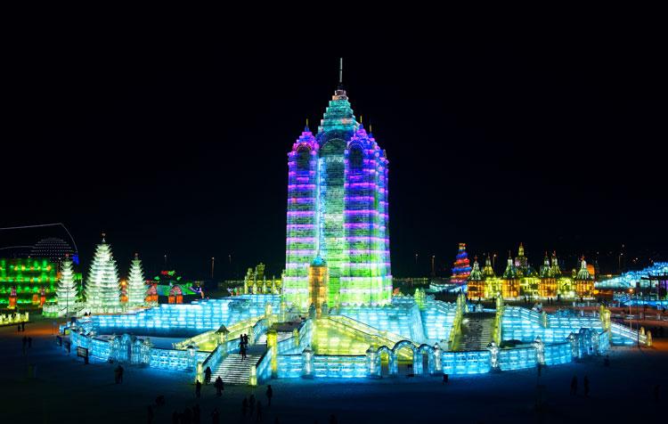 Foto delle sculture dell'Harbin Ice Festival n.21