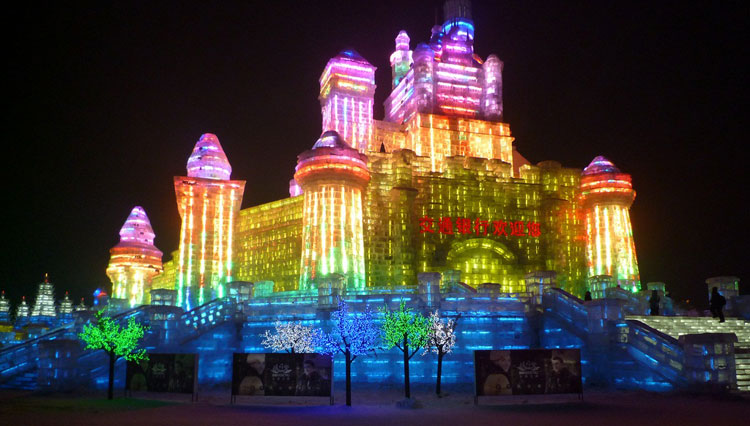 Foto delle sculture dell'Harbin Ice Festival n.22