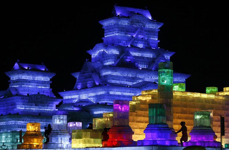 Foto delle sculture dell'Harbin Ice Festival n.23
