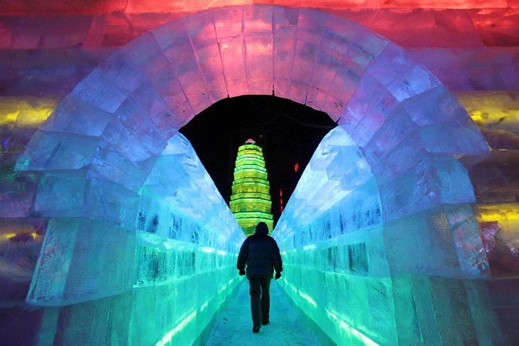 Foto delle sculture dell'Harbin Ice Festival n.26