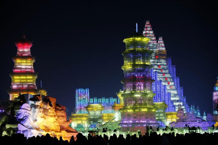 Foto delle sculture dell'Harbin Ice Festival n.29