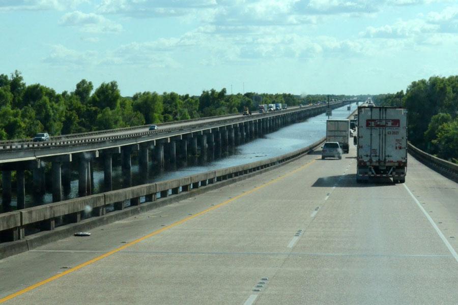 Ponte di Atchafalaya Basin