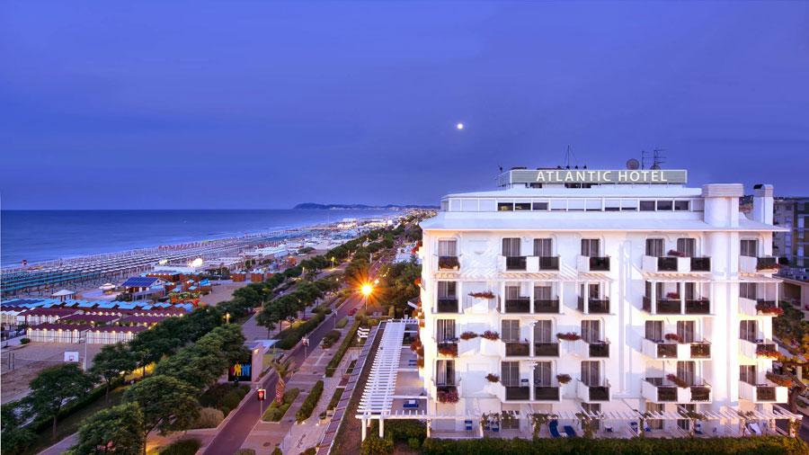 Esterno dell'Atlantic Hotel Riccione