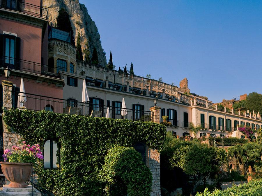 Esterno del Belmond Grand Hotel Timeo a Taormina