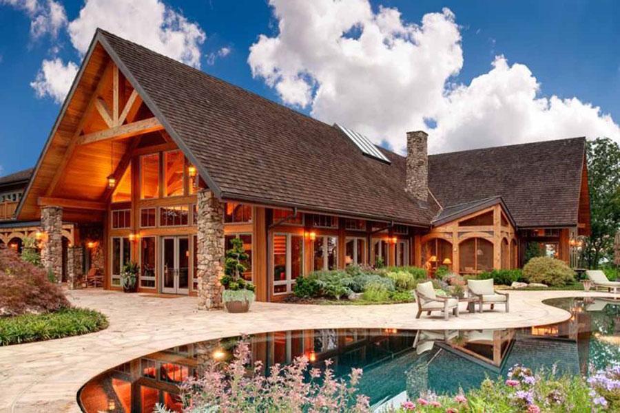 Casa di lusso realizzata in legno n.03