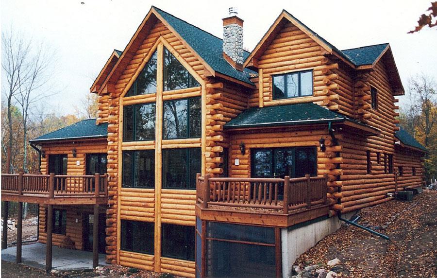 Casa di lusso realizzata in legno n.05