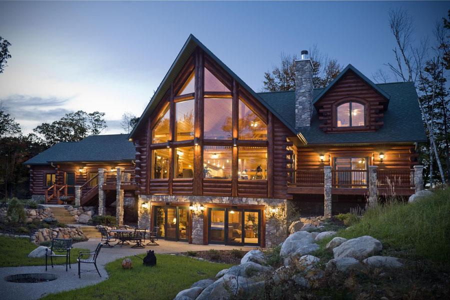 Casa di lusso realizzata in legno n.06