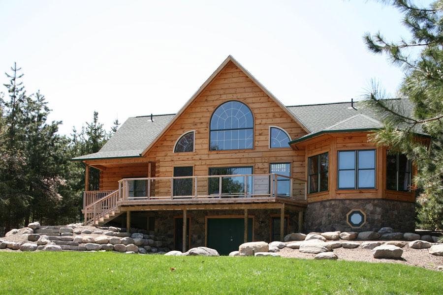 Casa di lusso realizzata in legno n.09