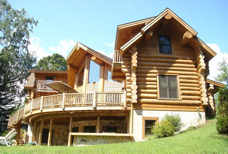 Foto di 20 case di lusso in legno spettacolari for Log planimetrie nuove case