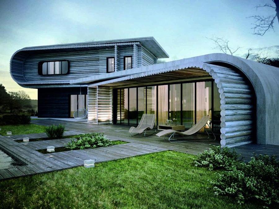 Casa di lusso realizzata in legno n.11