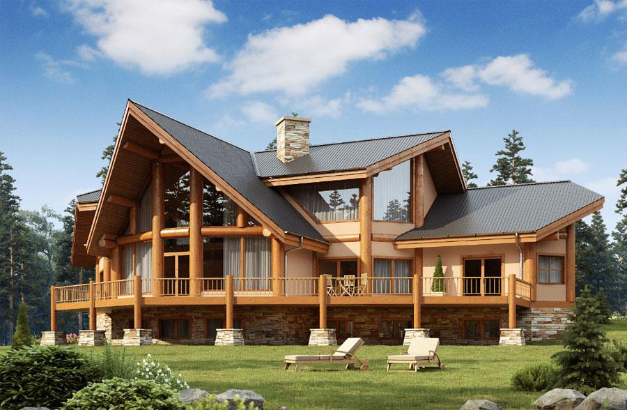 Casa di lusso realizzata in legno n.14