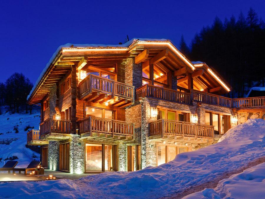 Casa di lusso realizzata in legno n.16