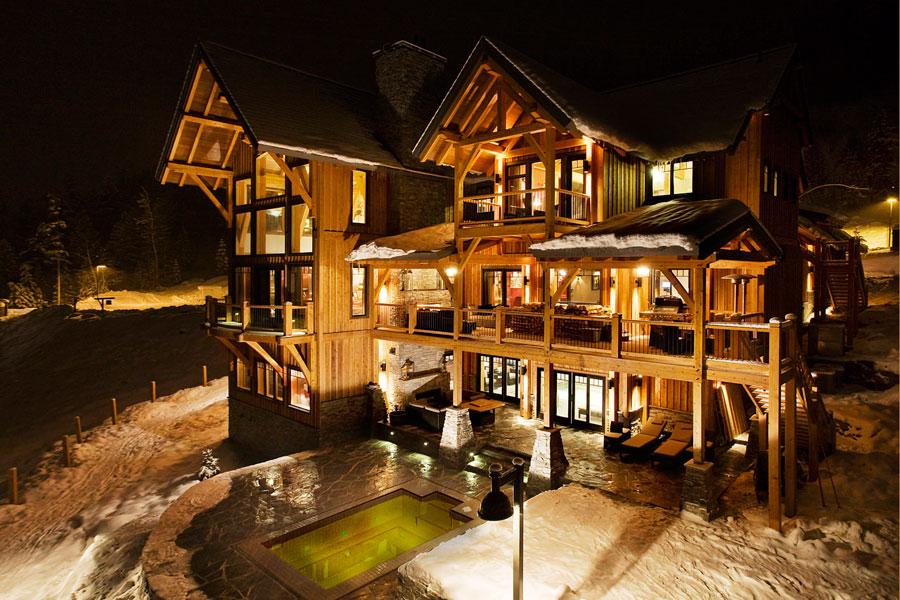 Casa di lusso realizzata in legno n.17