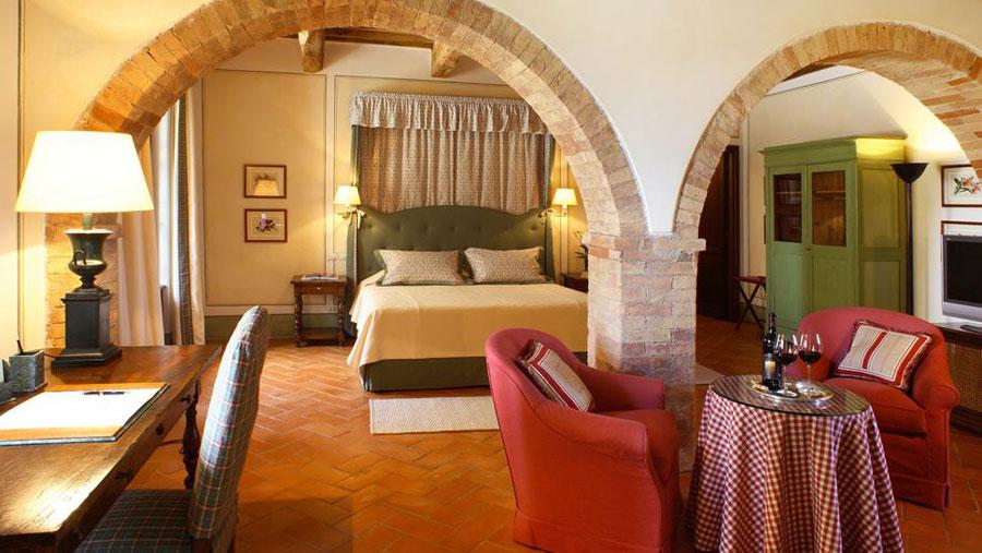 Camera dell'hotel di lusso Castello Banfi - Il Borgo