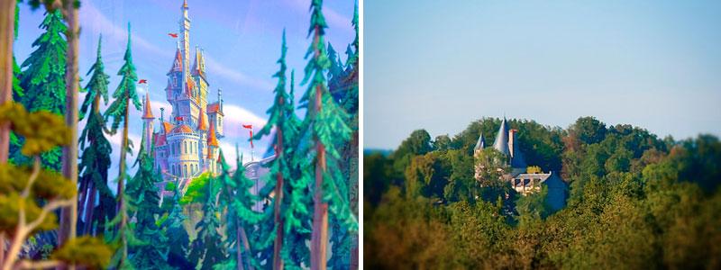 IL castello de La Bella e la Bestia nella realtà