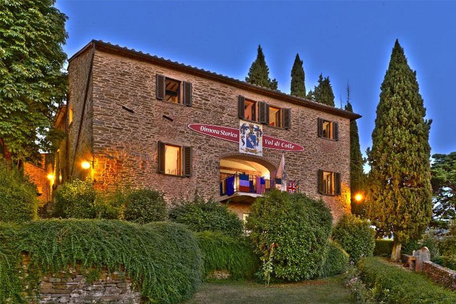 Esterno dell'hotel di lusso Castello Val Di Colle