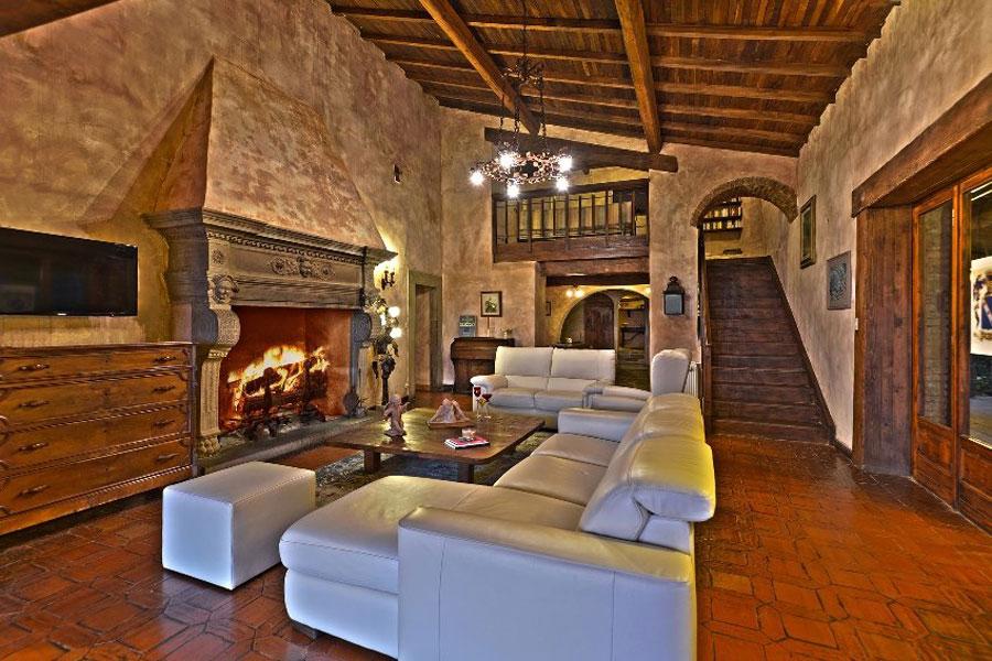 Salotto dell'hotel di lusso Castello Val Di Colle ad Arezzo