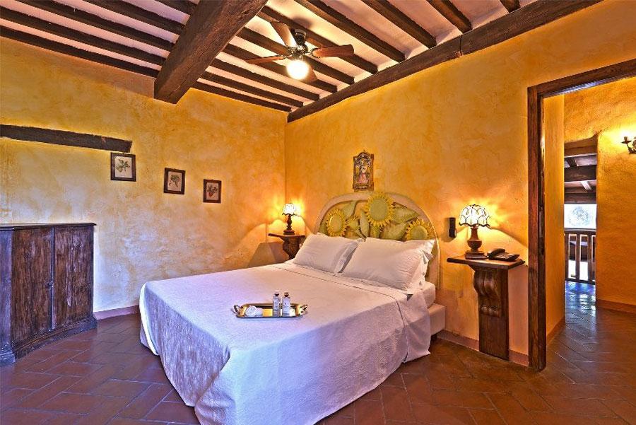 Camera dell'hotel di lusso Castello Val Di Colle ad Arezzo