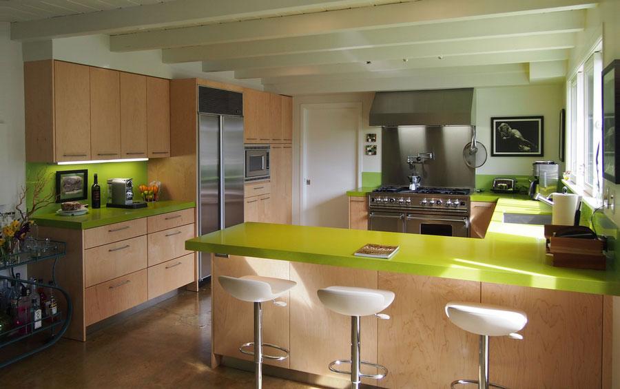 Modello di cucina moderna con penisola n.04